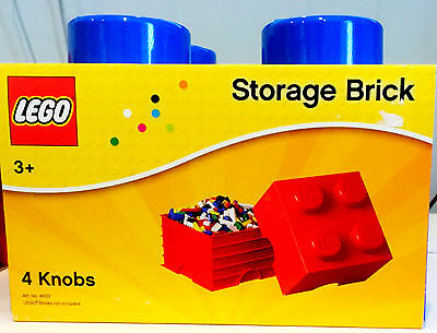 "LEGO-STACKABLE STORAGE BRICK-Item #4003-Blue-4 Knobs-10""x10""x7""NEW-FREE SHIPPING"