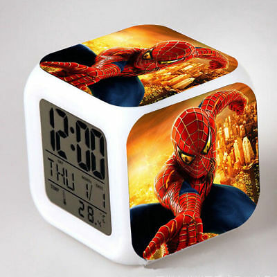 Marvel Heroe Spider-man Kids Alarm Clock Square Colorful Children Christmas Gift