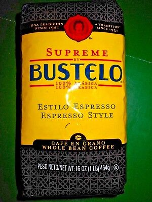 Cafe BUSTELO Whole Bean Coffee Supreme Espresso Premium JUN 2018 Best New Prices