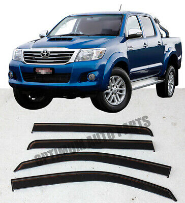 Injection weather shield Window Visor weathershields For Toyota Hilux 2005-2014
