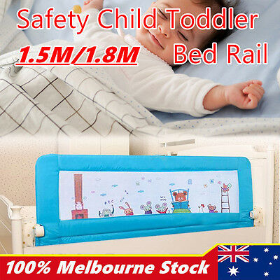 1.5m/1.8m Child Toddler Safety Bed Rail Baby Bedrail Fold Cot Guard Protection