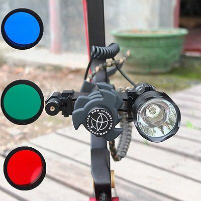 Tactical C8T6 1200LM Archery Compound Bow Stabilizer Flashlight + Red Dot laser