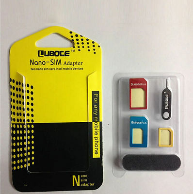 for iPhone Converter Adapter SIM Card Adaptor Set Micro Standard Nano 5 IN 1 to