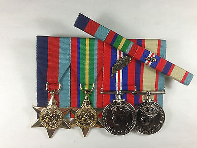 Set of 4 WWII Pacific Medals with Mentioned in Dispatches MID