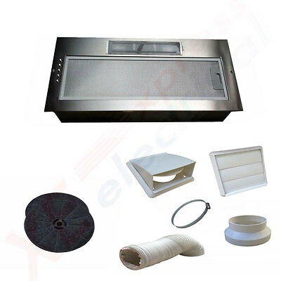 NEW 520MM Kitchen Cooker Canopy Extractor Hood Fan **TWIN MOTOR MODEL** Sale
