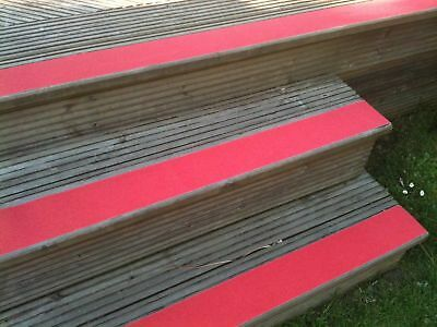 Anti Slip Tape For Decking High Grip Red Self Adhesive 4 inch x 1 Yard
