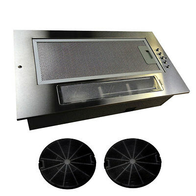 New Kitchen Cooker Canopy Extractor Hood Fan 520mm 52cm Twin Motor Model Sale
