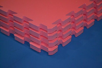 Gym Mats (Pink) 100cmx100cm, soft & light EVA mats, 20mm thick (90 mats job lot)