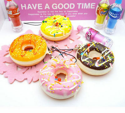 Chain Cell phone Cute Charms Colorful Soft Squishy Straps Kawaii Donuts