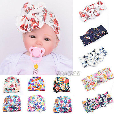 Fashion Newborn Baby Infant Girl Toddler Comfy Bowknot Hospital Cap Beanie Hat