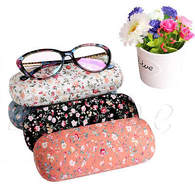 Floral Eyeglasses Spectacle Glasses Sunglasses Hard Case Box Protect Bag