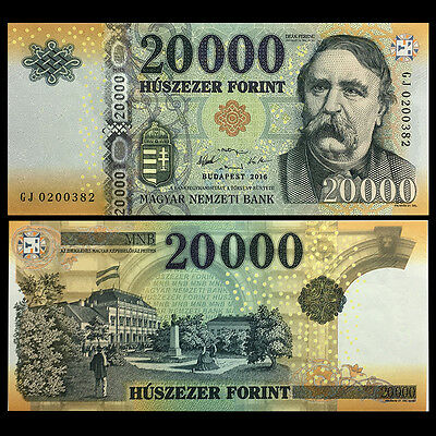 Hungria Hungary 20000 20,000 Forint, 2016, P-NEW, UNC