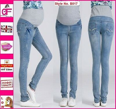 Skinny Maternity Jeans Pregnancy Trousers Clothes Wear Size 10 12 14 16 18 B017