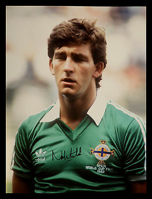 Norman Whiteside Signed 12x16 Northern Ireland Football Photograph