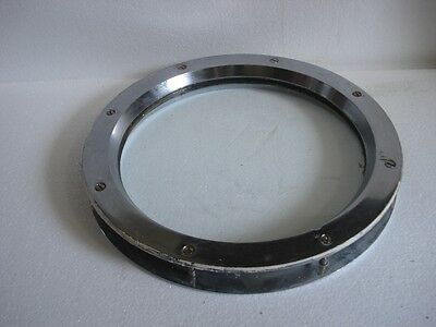 VINTAGE ship's BRASS PORT HOLE / Window / Porthole - 12 INCHES GLASS (A)
