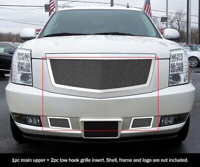 SS 1.8mm Mesh Grille Combo For 2007-2014 Cadillac Escalade