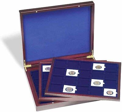 2x2 Quadrum Coin Presentation Display Wood Box Case New Lighthouse Delux 3 Trays