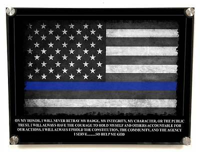 Policeman's Oath of Office Metal Wall Art Decor - with Matching 8x10 color print