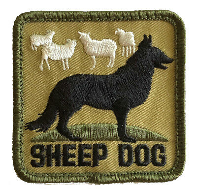 Multicam Sheep Dog Sheepdog  Airsoft Paintball BDU NRA Hook & Loop Morale Patch
