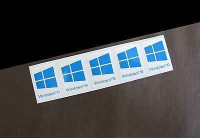 5 PCS Windows 10 Sticker Badge Logo Decal Cyan Color Win 10 (16mm x 22mm) NEW
