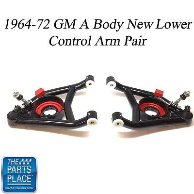 1964-72 GM A Body New Pre-Loaded Tubular Lower Control Arms - Pair