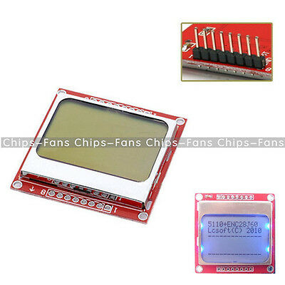 2PCS 84x48 Nokia LCD Module Blue Backlight Adapter PCB Nokia 5110 LCD Arduino CF