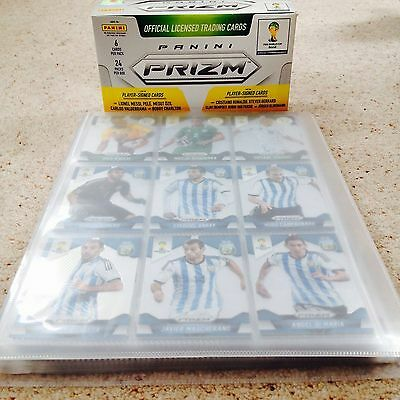 PANINI PRIZM World Cup Brazil 2014- 201 Cards Complete Base Set- Includes Binder