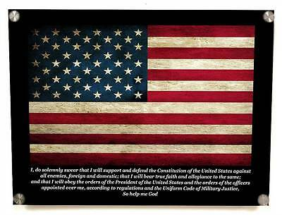 US Soldier's Oath Metal Wall Art Decor - with Matching 8x10 print