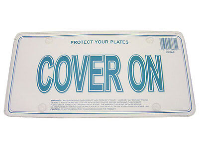 License Plate Frame Flat Clear Cover, 2pc fit Canada & USA License plate