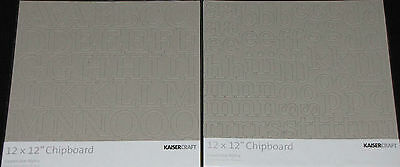 Kaisercraft Chipboard 'ALPHA' 86 shapes 12X12' (You choose design) KAISER NEW
