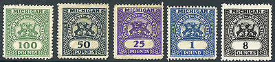 USA MICHIGAN REVENUES...DEPARTMENT of AGRICULTURE 5 WEIGHTS