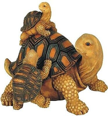 Garden Tortoises Family Statue Decor Outdoor Yard Collectible Figure Model Gift