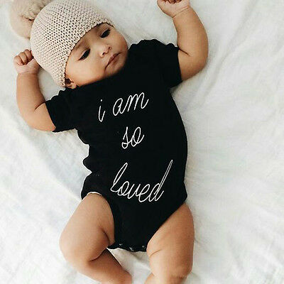 Newborn Infant Baby Boy Girls Romper Bodysuit Playsuit Summer Clothes Outfits