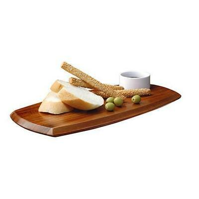 Dip / Appetiser Set, Porcelain Bowl on Acacia Wood Board, Athena 180 x 362mm