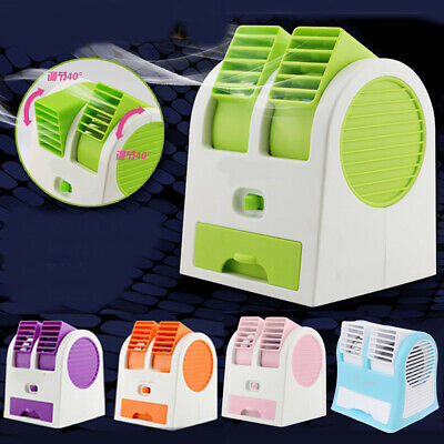 Mini Cooling Fan USB Battery Operated Portable Air Conditioner Cooler Bladeless