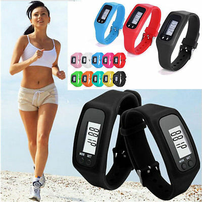 Mini LCD Digital Pedometer Walking Step Distance Calorie Counter Run Calculation