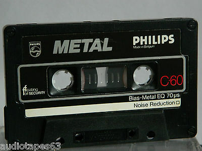 PHILIPS  METAL  C - 60 Type IV 1978 -1981 Kassette Audio-Cassette Tape