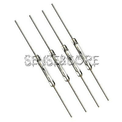 10X Reed Switch 10-15At 2 X 14Mm Gold Tone 20Cs Mka-14103 Lead Glass N/O Spst