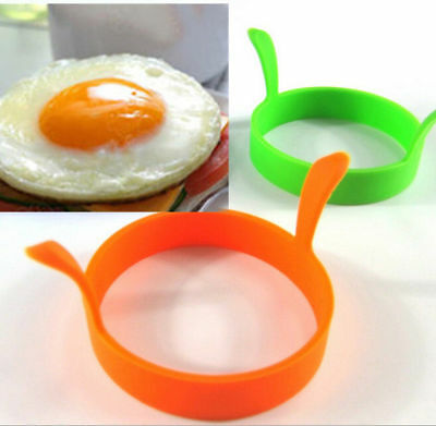 4pcs Kitchen Cooking Silicone Fried Oven Poacher Pancake Egg Poach Ring Mould