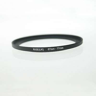 Professional 67mm-77mm 67-77 mm 67 to 77 Metal Step-Up Lens Filter Ring Adapter