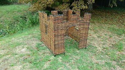 Plastic Wicker / Willow Castle 4 sided (1m x 1m x 1m) Factory Second!
