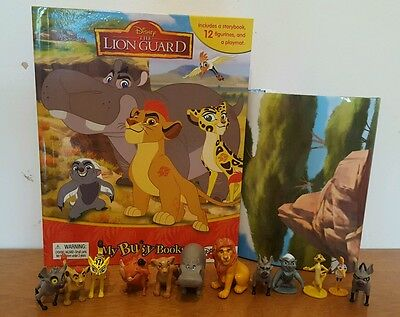 NEW Disney Lion Guard My Busy Book + 12 Character Figurines & Playmat