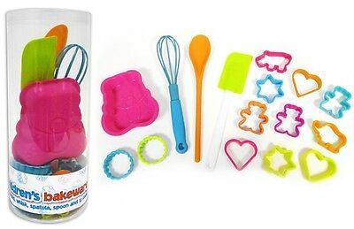 We Can Cook Children's 16 Piece Bakeware Set - Moulds Cutters Spoon Whisk