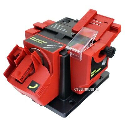 Electric Multi Purpose Bench Mountable Drill Bit Chisel Knife Scissor Sharpener
