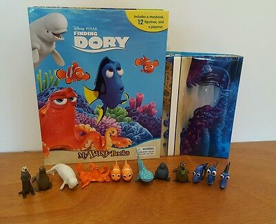 Disney Pixar Finding Dory My Busy Book + 12 Character Figurines & Playmat