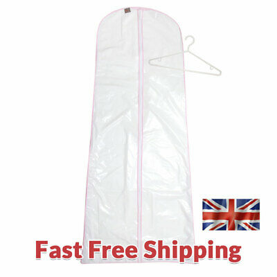 """Peva Zip Up WEDDING DRESS Gown COVER Flared 181 x 88cm (71"""" x 34"""") 193"""