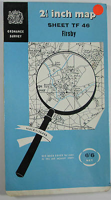 1966 old vintage OS Ordnance Survey 1:25000 First Series map TF 46 Firsby