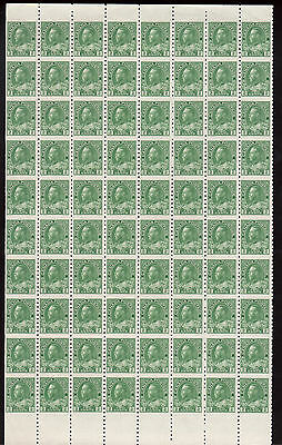 Canada #128a VF/NH Rare Imperforate Between Sheet Of Eighty