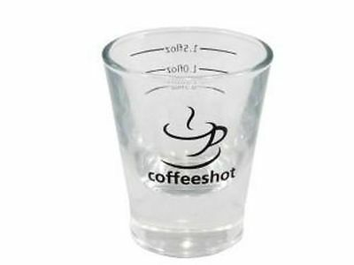 2 oz Espresso Shot Glass x 2 - Great for Barista and Specialist Coffee Making!