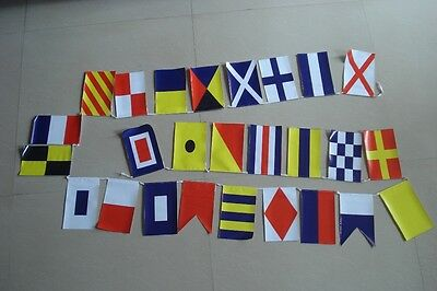 MARINE NAVY Signal Code Bunting Flag Banner - String of 26  - LENGTH 11 FEET